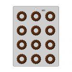 תבנית לשוקולד טבעת פרח לפטיפורים 91 בלעדי