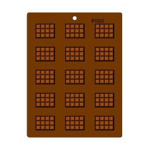 תבנית לדקורציה בשוקולד טבלאות שוקולד מיני 1022