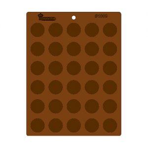 תבנית לדקורציה בשוקולד דסקיות חלקות 2.5 1009