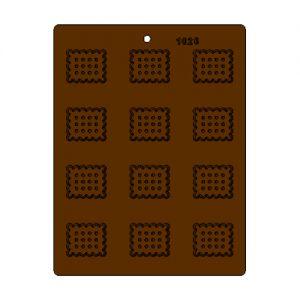 תבנית לדקורציה בשוקולד ביסקוויט מיני 1026