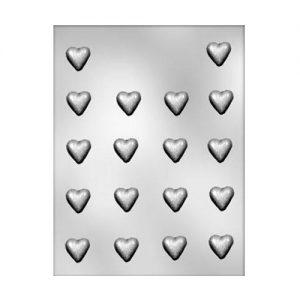 """תבנית לשוקולד דסקיות לבבות 2.5 ס""""מ 90-1001"""
