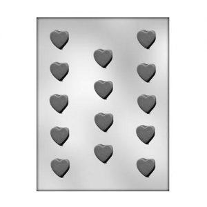 """תבנית לשוקולד דסקיות לבבות 2.4 ס""""מ 90-1024"""