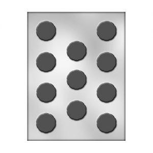 תבנית לשוקולד עיגול זיגזג שטוח 90-5062