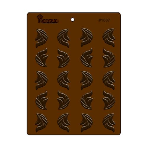 תבנית שוקולד רויאל עלים דקורטיביים #1037