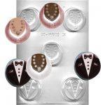 תבנית לשוקולד אוראו חתן וכלה 90-161502
