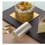 שקף לעוגה במנה אישית + תמונה של שקף חתוך