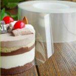 שקף לעוגה - הצמדה של השקף לעוגה