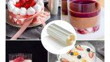 שקף לעוגה בעוגות + מראה של גליל שקף לעוגה